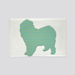 Paisley Lagotto Rectangle Magnet