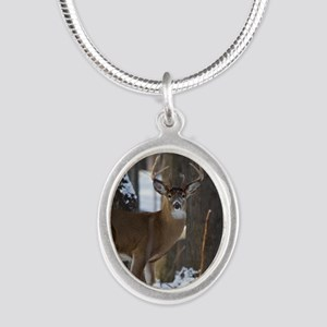 Trophy Whitetail D1316-014 Silver Oval Necklace