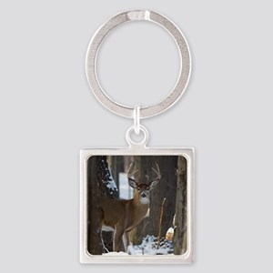 Trophy Whitetail D1316-014 Square Keychain