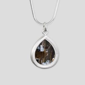Trophy Whitetail D1316-0 Silver Teardrop Necklace