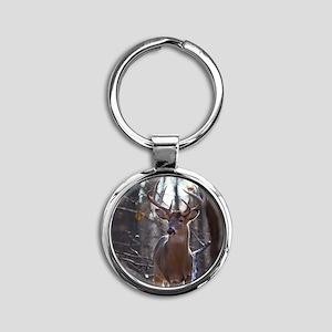 Dominant Buck D1342-025 Round Keychain