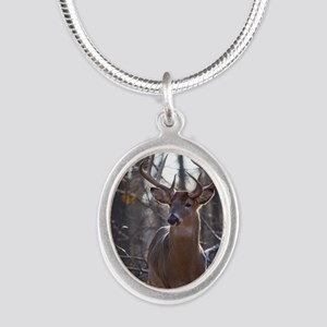 Dominant Buck D1342-025 Silver Oval Necklace