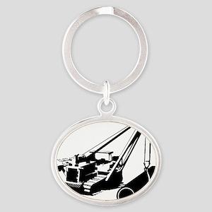 Black Boom Oval Keychain