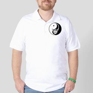 Tribal Skull Yin Yang Golf Shirt