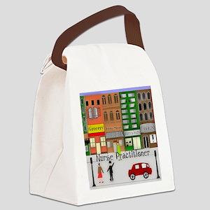 NP retro scene Gails watercolor a Canvas Lunch Bag
