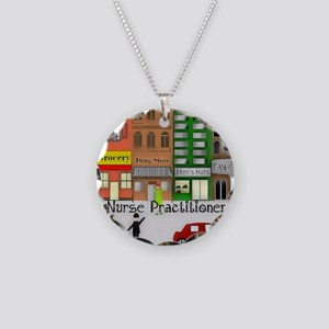 NP retro scene Gails waterco Necklace Circle Charm