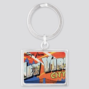 New York Landscape Keychain