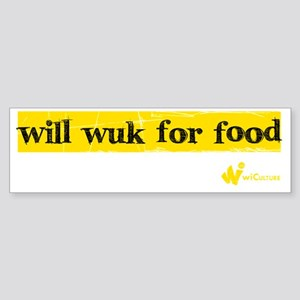 Will Wuk 4 Food Sticker (Bumper)