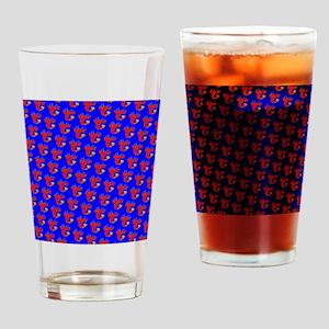 Blue Red Lobster Pride Designer Drinking Glass
