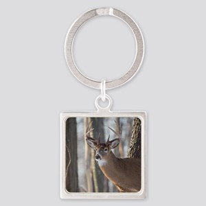 Buck Deer D1316-053 Square Keychain