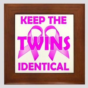 Keep the Twins Identical Framed Tile