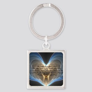 Divinely Guided Abundance Square Keychain