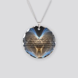 Divinely Guided Abundance Necklace Circle Charm
