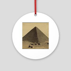 Egyptian Pyramid Round Ornament