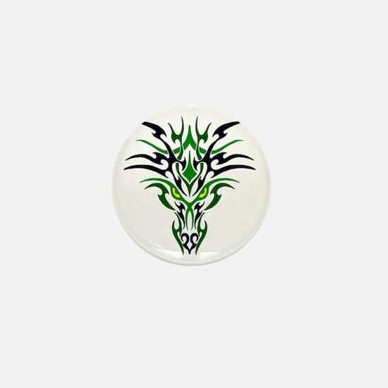 Two Toned Green Dragon Mini Button