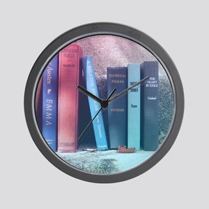 Staircase of Books Wall Clock