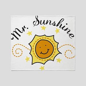 Mr. Sunshine Throw Blanket