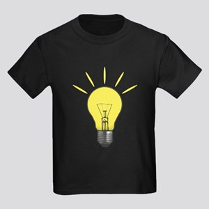 Bright Idea Light Bulb Kids Dark T-Shirt