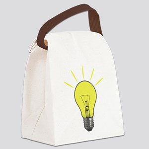 Bright Idea Light Bulb Canvas Lunch Bag