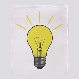 Bright Idea Light Bulb Throw Blanket