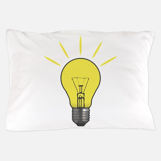 Bright Idea Light Bulb Pillow Case