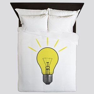Bright Idea Light Bulb Queen Duvet