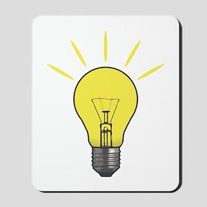 Bright Idea Light Bulb Mousepad