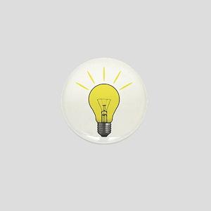 Bright Idea Light Bulb Mini Button