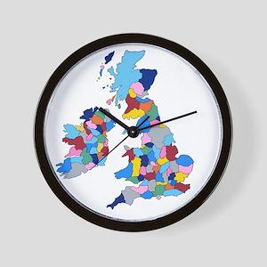 England, Ireland, Scotland Wales Wall Clock