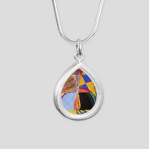 Sisterhood Chalice Silver Teardrop Necklace
