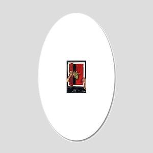 Self Portrait Framed Print 20x12 Oval Wall Decal
