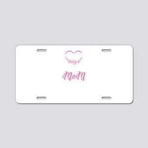 I Love Being A Football Mom Aluminum License Plate