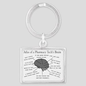 Atlas of a pharmacy techs brain Landscape Keychain