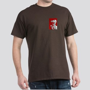 Bold Red Velociraptor Dark T-Shirt