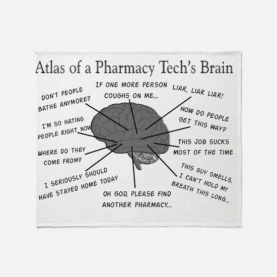 Atlas of a pharmacy techs brain Throw Blanket