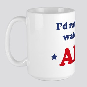 Id rather be watching AFV Large Mug