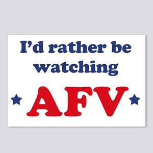 Id rather be watching AFV Postcards (Package of 8)