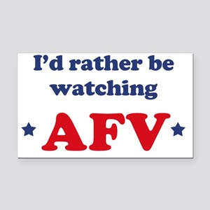 Id rather be watching AFV Rectangle Car Magnet