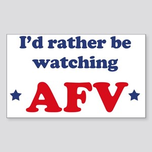 Id rather be watching AFV Sticker (Rectangle)