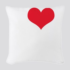 I Love The Amazing Race Woven Throw Pillow