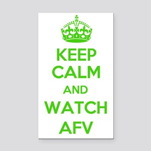 Keep Calm and Watch AFV Rectangle Car Magnet