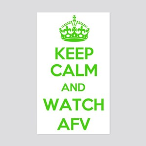 Keep Calm and Watch AFV Sticker (Rectangle)