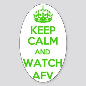 Keep Calm and Watch AFV Sticker (Oval)