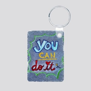 You Can Do it Aluminum Photo Keychain