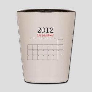 December 2012 Calendar Shot Glass