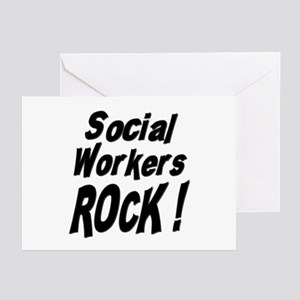Social Workers Rock ! Greeting Cards (Pk of 10