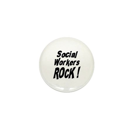 Social Workers Rock ! Mini Button (100 pack)