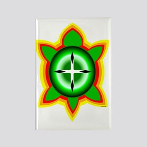 SOUTHEASTERN TRIBAL TURTLE Rectangle Magnet
