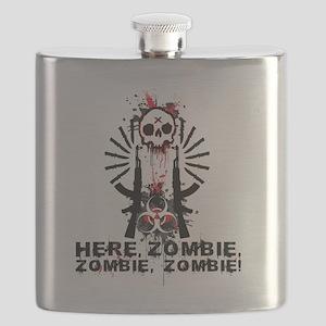 Here zombie,zombie Flask