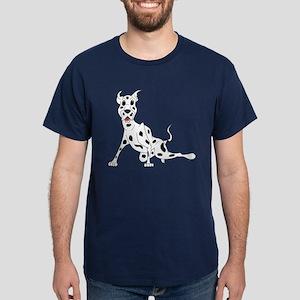 Harlequin Great Dane Dark T-Shirt